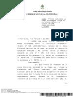 Fallo Cámara Electoral / Confirmación victoria del PJ