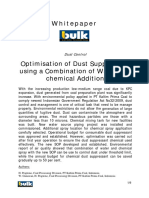 Optimisation of Dust Suppression Using Water and Additives