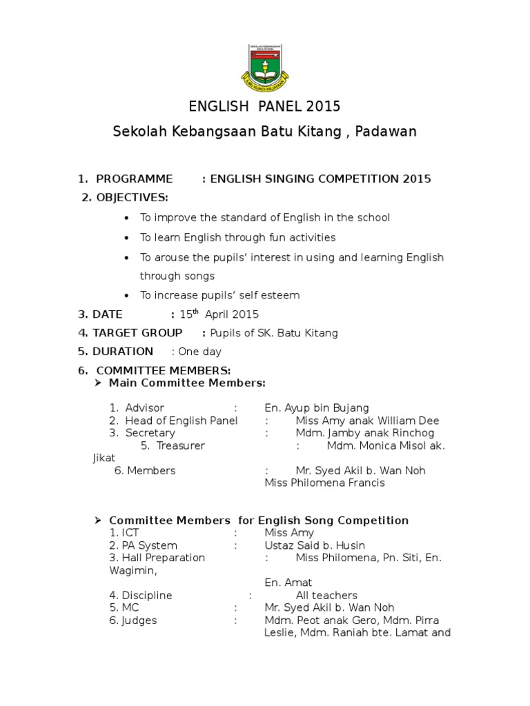 Singing Competition 2015