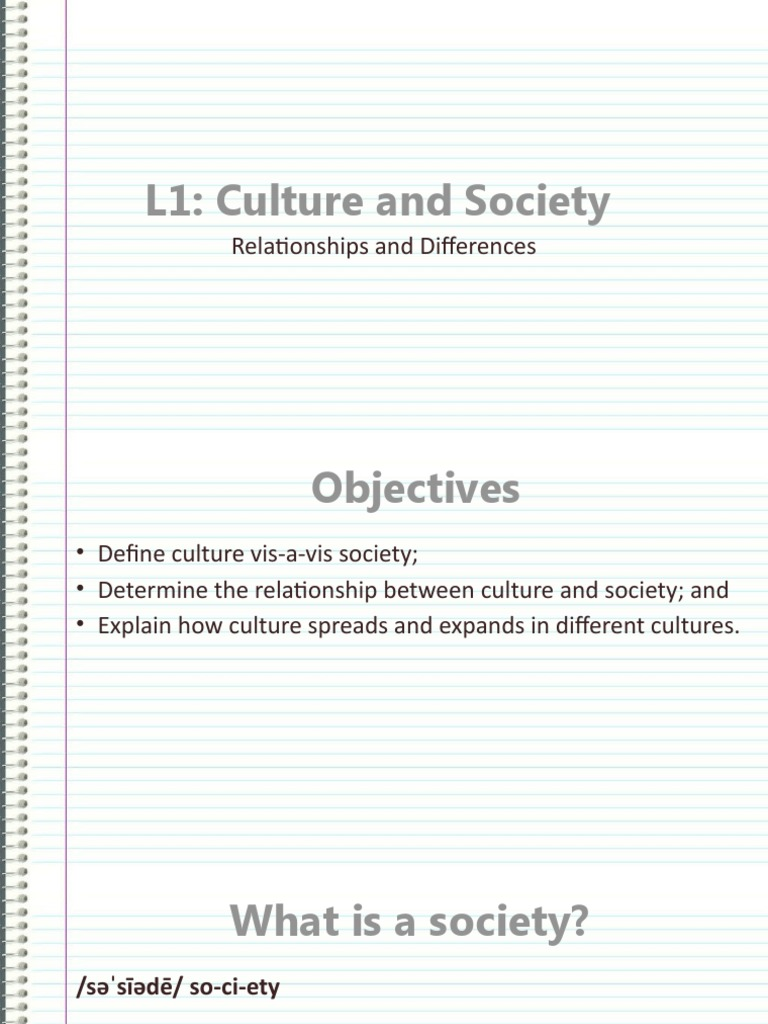 explain the relationship between culture and society