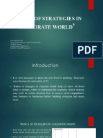 Basics of Strategies in Corporate World'Concise