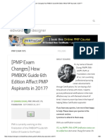 [PMP Exam Changes] How PMBOK Guide 6th Edition Affect PMP Aspirants in 2017