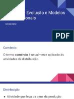 M1 - Comércio - Evolução e Modelos Organizacionais
