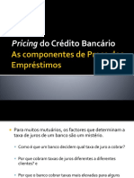 Pricing Dos Empréstimos