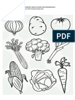 7.Menempel Nama Sayuran Dan Mewarnainya