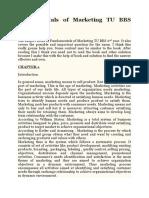Fundamentals of Marketing TU BBS 2nd