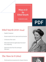 Mass in D by Ethel Smyth - Presentation