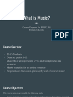 What is Music Course Proposal Presentation