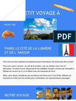Paris Vacation Presentation - In French