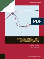 Applied Well Test Interpretation - John Lee