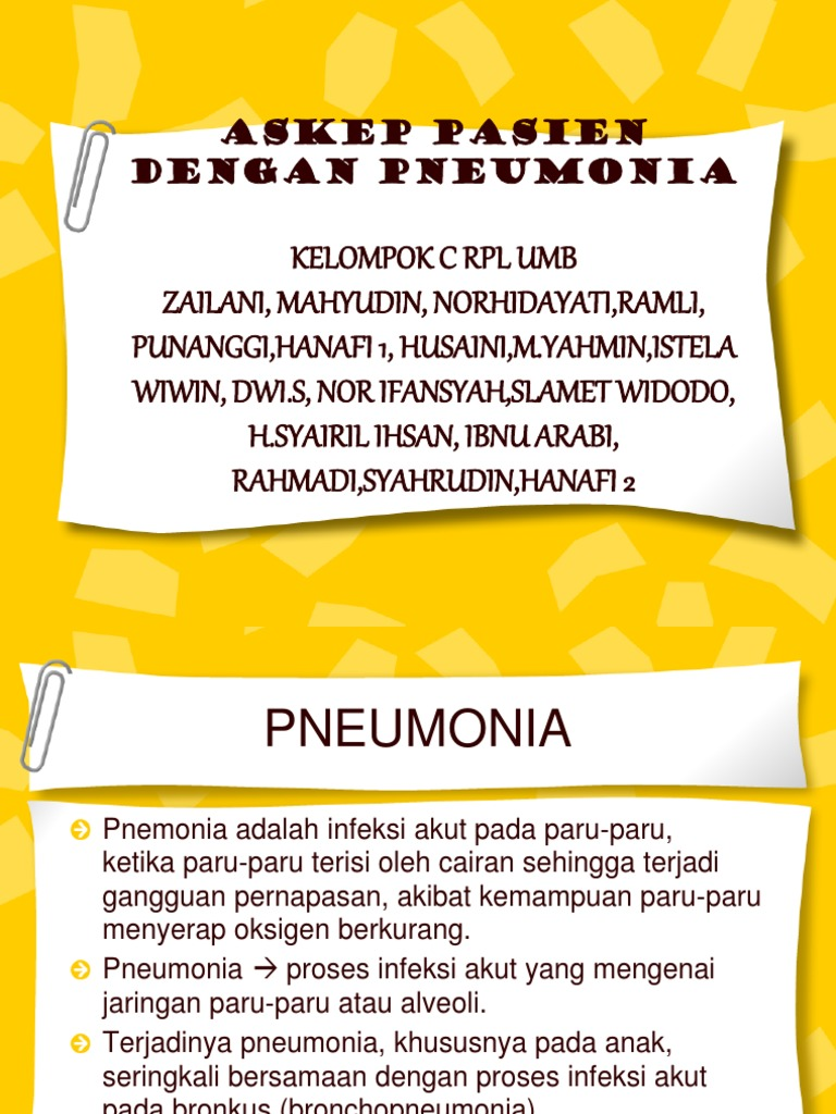 Askep Pneumonia Ppt