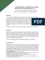 Desarrollo de Software Para La Asignatura Algebra Lineal Mediante Lenguaje NetBeans Java
