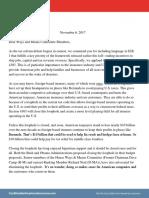 Coalition for American Insurance Letter Bermuda Nov 8 2017