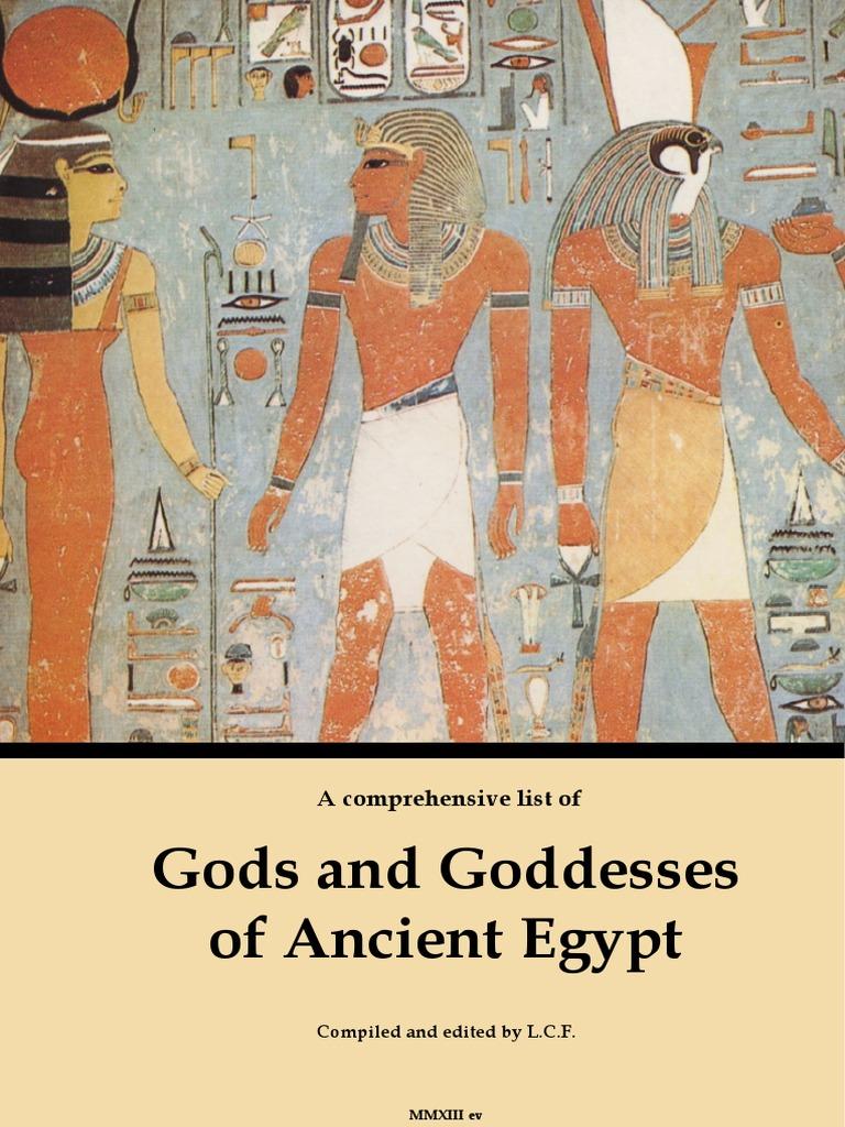Divinidades de Egipto | Deities | Ancient Egyptian Religion