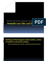 Immutable Laws That Lead to Success 300610