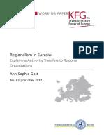 Regionalism in Eurasia