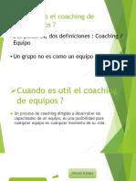 Qué Es El Coaching de Equipos Ppt