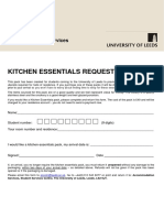 Kitchen Essentials Request Form