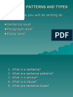 Sentence Patterns and Types (1)