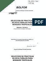 SELECCION DE PRACTICAS SILVICULTURALES PARA BOSQUES TROPICALES - PROYECTO BOLFOR.pdf