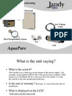 AquaPure and PureLink Troubleshooting Manual