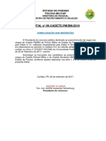 Edital 06-CADETE-PM BM-2018 Homologação Das Inscrições