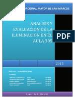 Analisis y Evaluacion de La Iluminacion en El Aula 305
