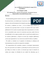 Articulo de Revision Del Neuromarketing y Su Influencia en La Decision de Compra Del Consumidor