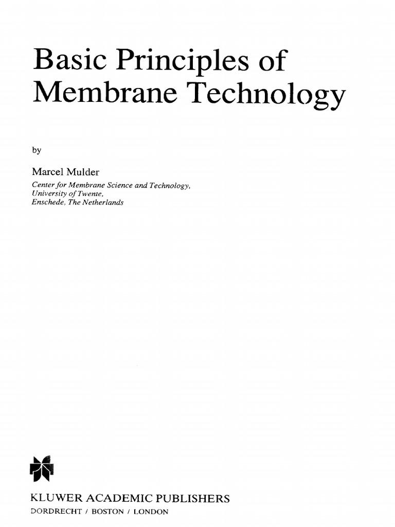 Basic Principles Of Membrane Technologypdf Transparent Materials Figure Fo 1 100kw Tqg Electrical Power Schematic Diagram Sheet 3 6 Liquids