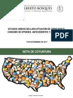 08-11-17 Estados Unidos declara situación de crisis por el consumo de opioides