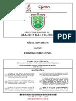 Prova concurso Engenheiro  Civil 2017 UEPB Prefeitura Major Sales