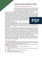 Birokrasi Weber Dalam Perspektif Administrasi Publik