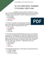 434 Cau Trac Nghiem Mon Co So Van Hoa Viet Nam Full Co Dap an