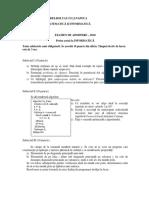 Subiect Admitere 2010 Informatica