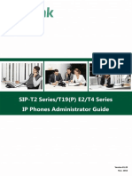 Yealink SIP-T2 Series T19(P) E2 T4 Series IP Phones Administrator Guide V81 20