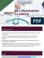 Fases de Los Ensayos Clinicos