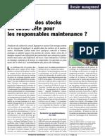 La Gestion Des Stocks Un Cassetete Pour Les Responsables Maintenance Janvier 2012
