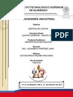 CLASIFICACIÓN Y TIPOS DE COSTOS