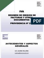 Presentacion Providencia n257 Iva