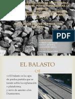 Robert Cardenas Instalaciones de Vias Con Balasto