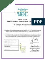 Jill Hammergren DBA the Media Pro WOSB 2017 Certificate