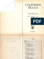 CALPÚRNIO SÍCULO-Bucólicas