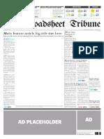 Broadsheet Newspaper Template
