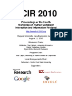 HCIR 2010 Proceedings