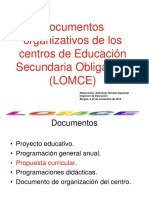 4.1 Documentos Organizativos Centros ESO LOMCE