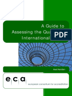 Axel Aerden, A Guide to Assessing the Quality of Internationalisation