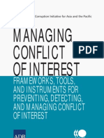 Managing Conflict Interest