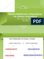 Plantas Ação Sistema Respiratorio