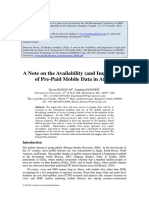 Availability N Importance of Pre-Paid Mobile Data in Africa y2010 # Kevin DONOVAN, Jonathan DONNER.pdf