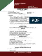 Programa Derecho Del Trabajo Dos